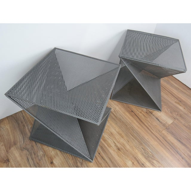 Mathieu Matégot 1950s Mathieu Matégot Geometric Side Tables - A Pair For Sale - Image 4 of 13
