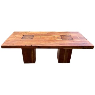 Walnut Free Edge Dining Table For Sale