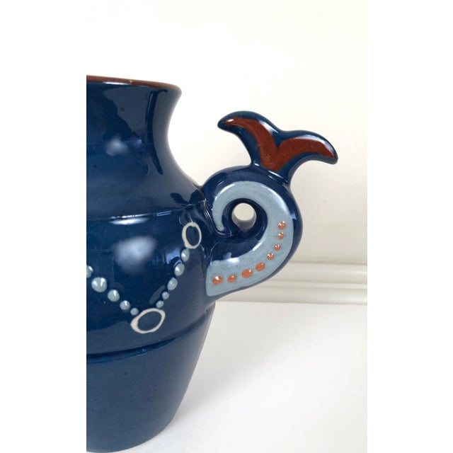 Ceramic English Art Pottery Longpark Dragon Pitcher For Sale - Image 7 of 11
