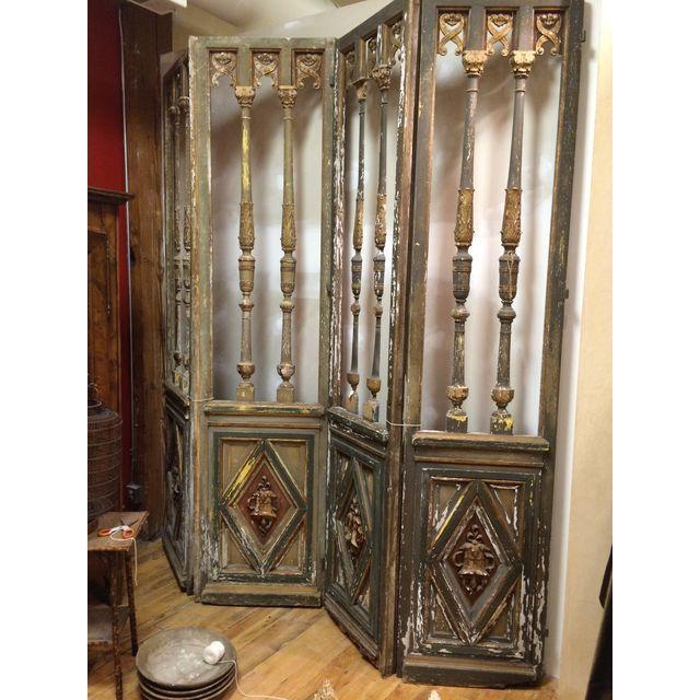 1820's French Double Door Screen - Image 7 of 8