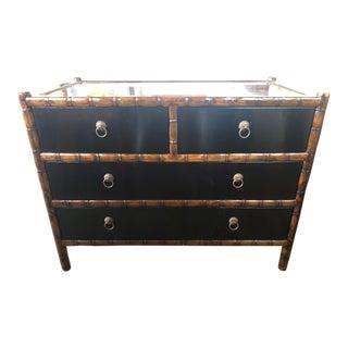 Black Bamboo & Brass Dresser