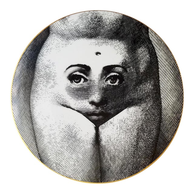 Vintage Fornasetti Motiv 19 Porcelain Plate for Rosenthal - Image 1 of 3