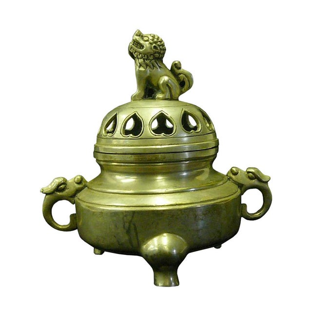 Chinese Silver Color Round Incense Burner - Image 2 of 5