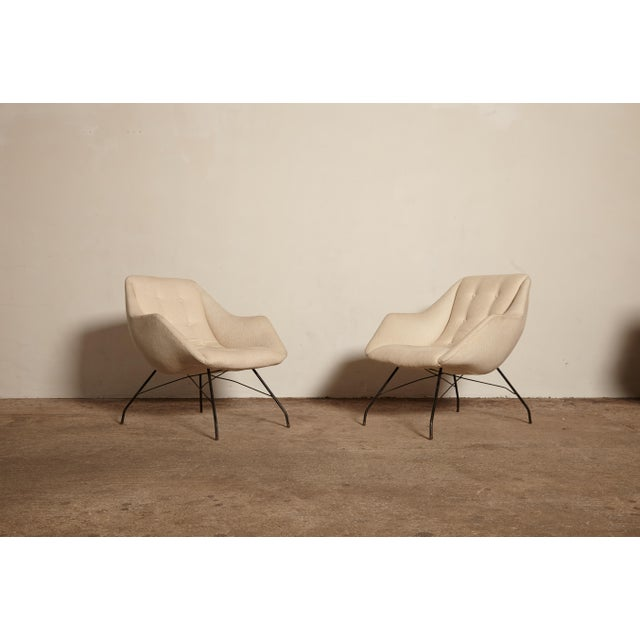 A rare authentic pair of Carlo Hauner and Martin Eisler Shell (Concha) lounge chairs, manufactured by Forma Brazil, 1950s.