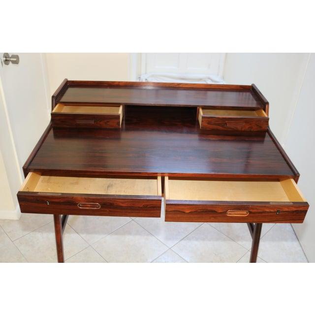 Arne Wahl Iversen Vintage Arne Wahl Iversen Model 64 Rosewood Vinde Mobelfabrik Desk For Sale - Image 4 of 13