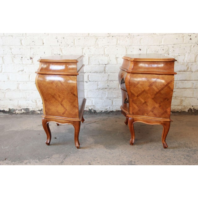 Inlaid Italian Bombay Chest Nightstands - a Pair For Sale - Image 10 of 12