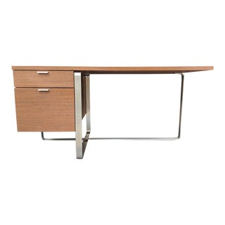 Modern DWR Steel and Wood Tanker Desk