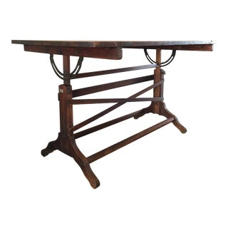 Antique Frederick Post Co. Drafting Table