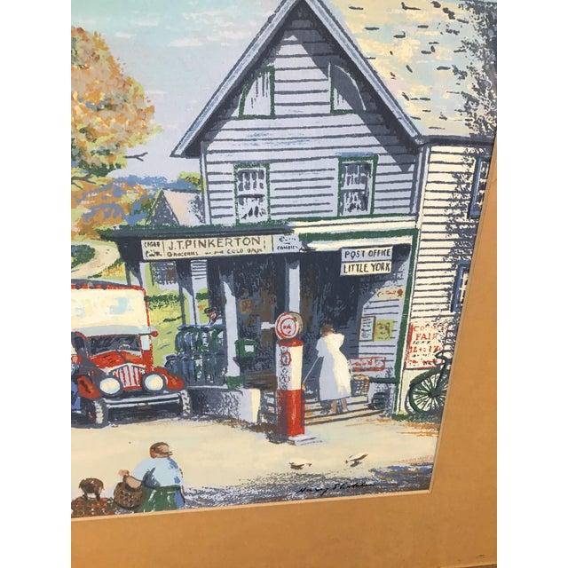 Americana 1940s Vintage Harry Shokler Pinkerton's Corner Original Painting For Sale - Image 3 of 8