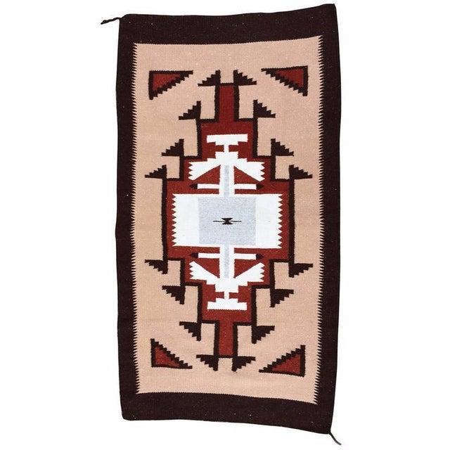 Handwoven Vintage Wool Navajo Rug - 2′7″ × 4′10″ - Image 1 of 4