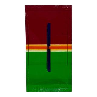 Vasa Velizar Mihich Mid Century Laminated Cast Acrylic Block C.1970s For Sale