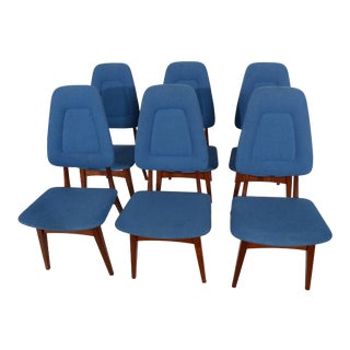 Mid Century Modern Danish Teak Dining Chairs - Set of 6 For Sale