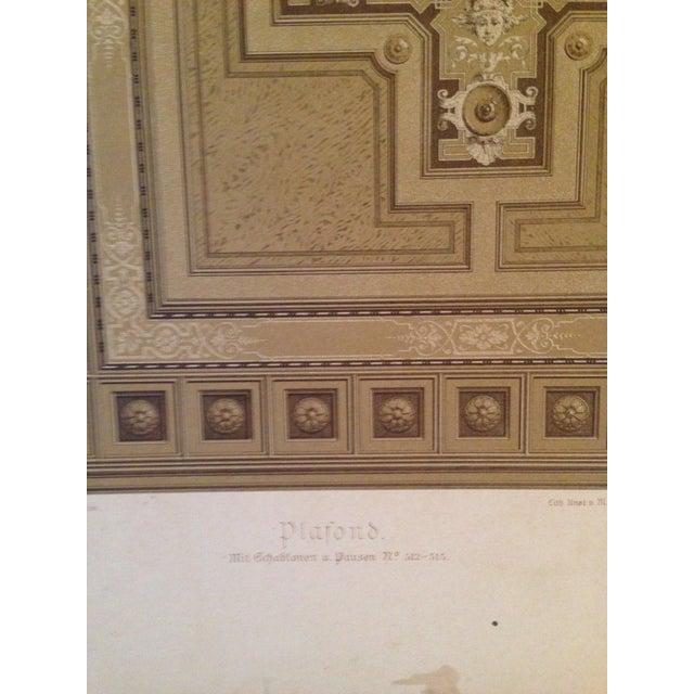 German Architectural Decorative Deutsches Maler Journal Chromolithograph - Image 3 of 4