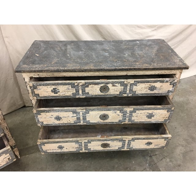 Pair of Italian Painted Chests / Commodes - 18th C For Sale - Image 9 of 13