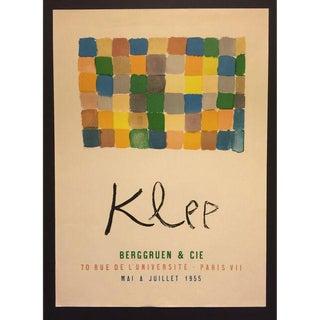 Original Paul Klee Paris Exhibition Painting