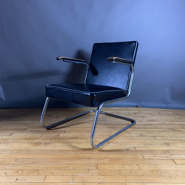 Drabert 1950s Drabert Germany Cantilever Armchair For Sale - Image 4 of 12