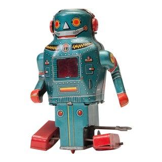 Vintage 1950's Japanese Tin Wind-Up Robot