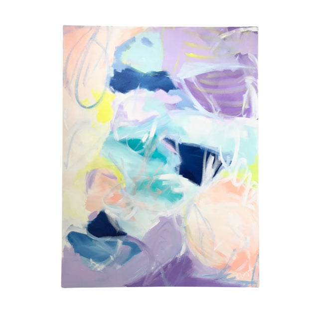 """Christina Longoria """"Ella's Spring"""" Abstract Painting For Sale"""