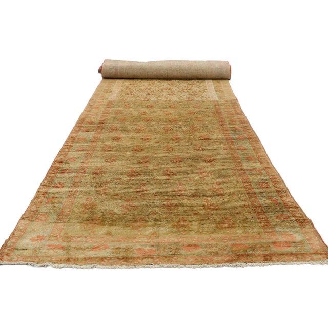 Antique Persian Mahal Long Persian Carpet Runner - 03'09 X 28'04 For Sale - Image 4 of 10