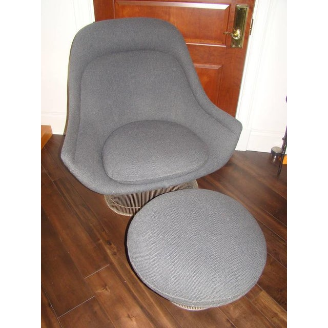 Knoll Knoll Warren Platner Throne Chair & Ottoman Lounge For Sale - Image 4 of 10