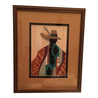 Native American Style Gentleman Cross Stitch Artwork