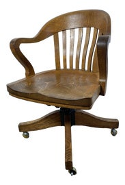 Image of Oak Swivel Chairs
