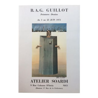 Original Vintage Exhibition Poster Signed by the Artist b.a.g. Guillot