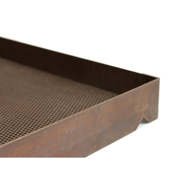 Architectural Bronze Mesh Letter Tray For Sale - Image 9 of 13