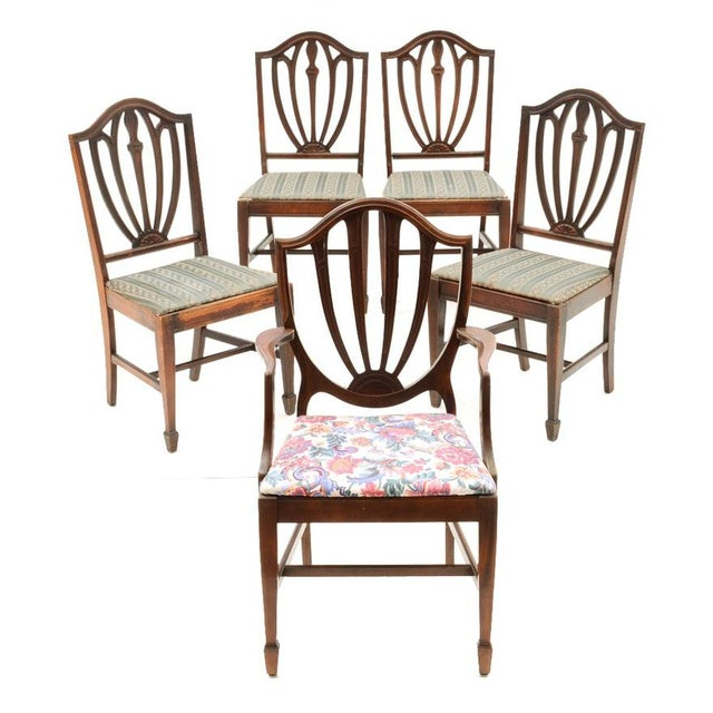 Vintage Duncan Phyfe Style Dining Chairs - Set of 5 - Image 7 of 7