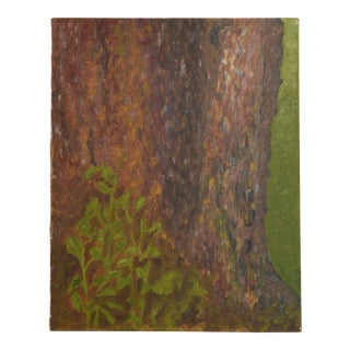 Abstract Painting Majestic Tree Trunk Botanical Art For Sale