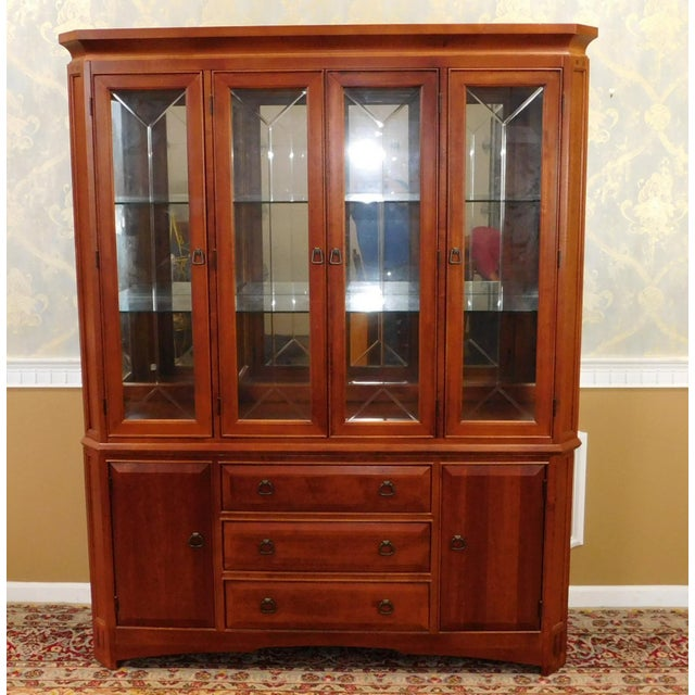 Thomasville Cherry Dining Room Set: Thomasville Furniture Cherry Mission Style China Cabinet