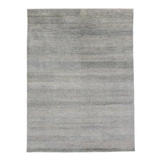 Transitional Gray Area Rug With Minimalist Style - 08'10 X 11'10 For Sale