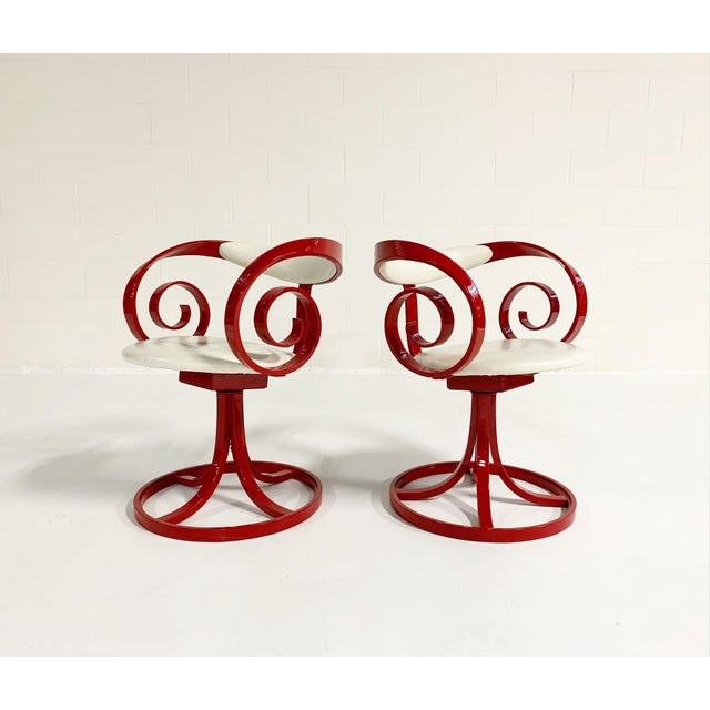 1960s George Mulhauser Red Sultana Chairs, Pair For Sale - Image 5 of 6