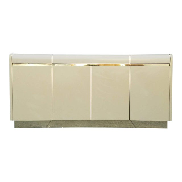 Vintage Lane Brass & Ivory Credenza For Sale