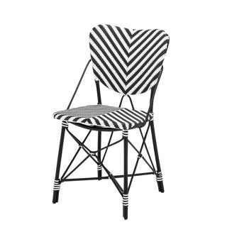 Eichholtz Colony Black & White Rattan Chair For Sale