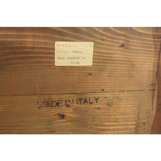 Mid-Century Italian Olive Wood Commode - Image 9 of 11