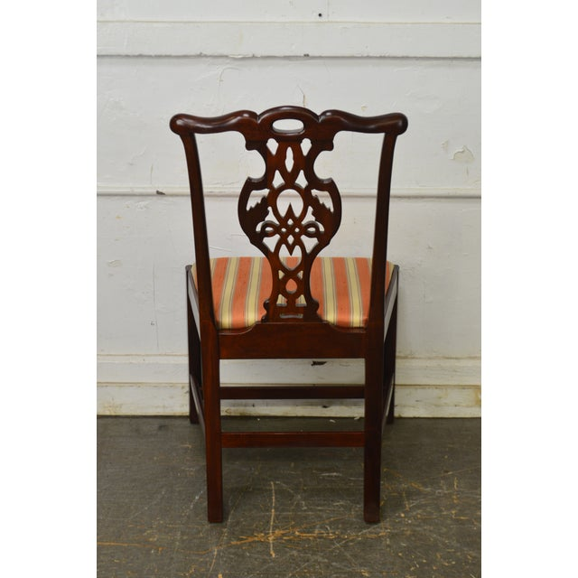 Baker Furniture Company Baker Historic Charleston Collection Chippendale Style Mahogany Side Chair For Sale - Image 4 of 13