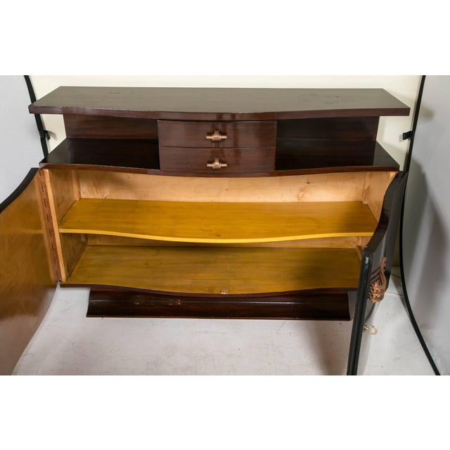 French Art Deco Rosewood Sideboard For Sale - Image 4 of 10