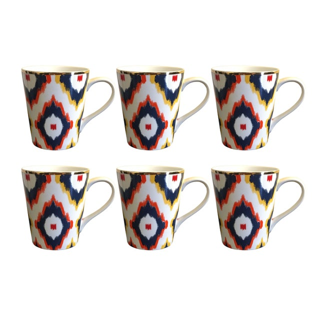 C. Wonder Multicolor Ikat Mugs - Set of 6 - Image 1 of 6