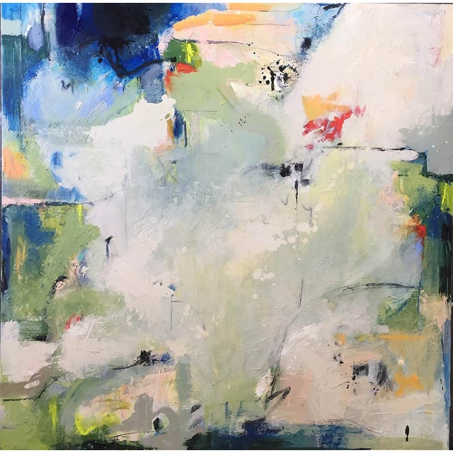 Canvas Large Original Abstract Landscape Titled 'Somewhere, Maybe' For Sale - Image 7 of 7