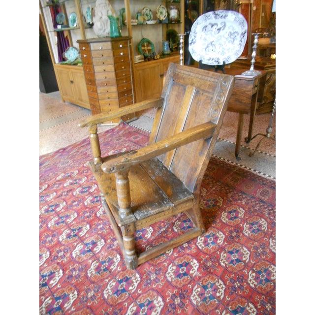Antique English Tudor/Stuart Oak Chair - Image 3 of 6
