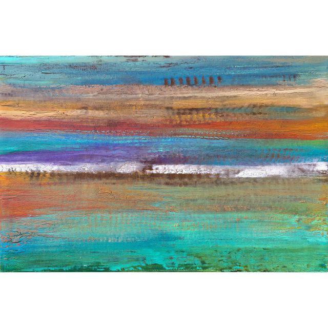 Original Textured Painting on Wood - Image 1 of 4