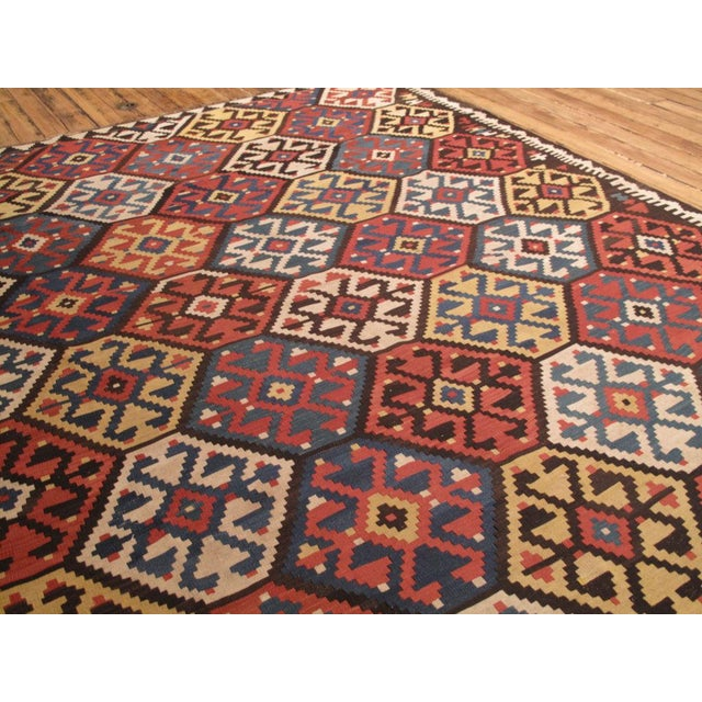 Traditional Antique Shahsavan Kilim For Sale - Image 3 of 9