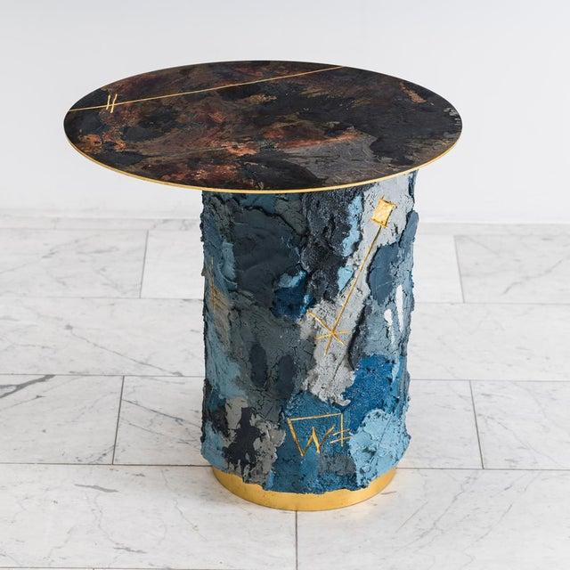 Concrete and Steel Occasional Table, Usa, 2019 For Sale - Image 11 of 12