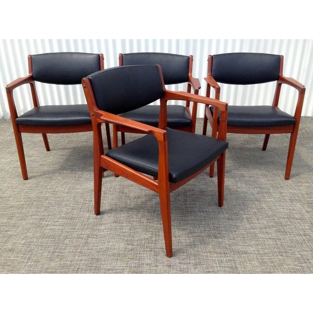 Danish Modern Mid Century Armchairs - Set of 4 - Image 3 of 4
