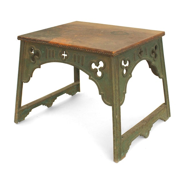 English Arts & Crafts Iron Coffee Table For Sale - Image 4 of 4