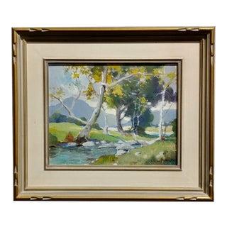Orrin White -California Sycamore Landscape -Oil Painting C1920s'