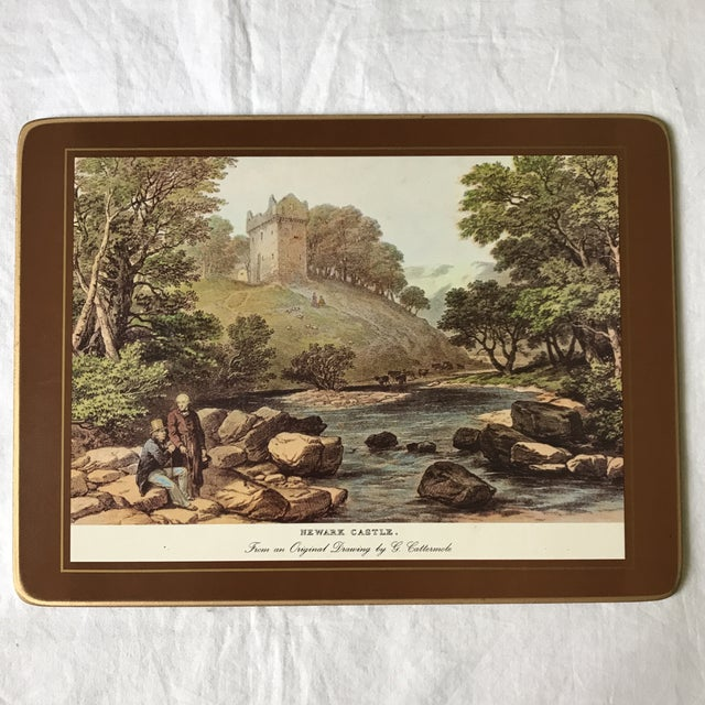 Traditional English Scene Placemats - Set of 6 For Sale In Los Angeles - Image 6 of 9