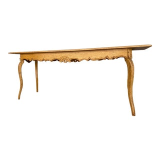 20th Century French Country Solid Oak Hall Table For Sale