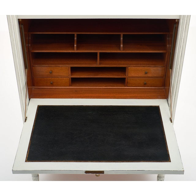Painted French Antique Secrétaire For Sale - Image 9 of 11